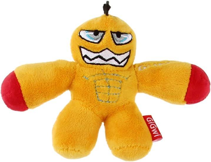 Gigwi Gladiator Squeaking Dog Toy Yellow Helmet
