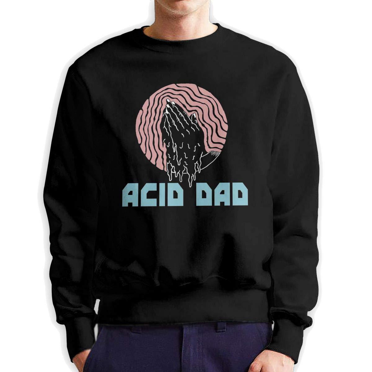 CY SHOP Acid Dad Mens Boys Crewneck Unisex Pullover Sweatshirt Crew Neck Hoodie