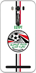 ColorKing Asus Zenfone 2 Laser ZE550KL Football White Case shell cover - Fifa Egypt 01