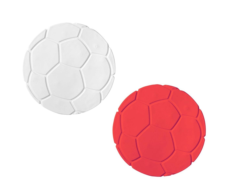 Ridder - Set da 6 mini tappetini da doccia o vasca, antiscivolo, utili anche come sottobicchieri bianco/rosso 696210-350