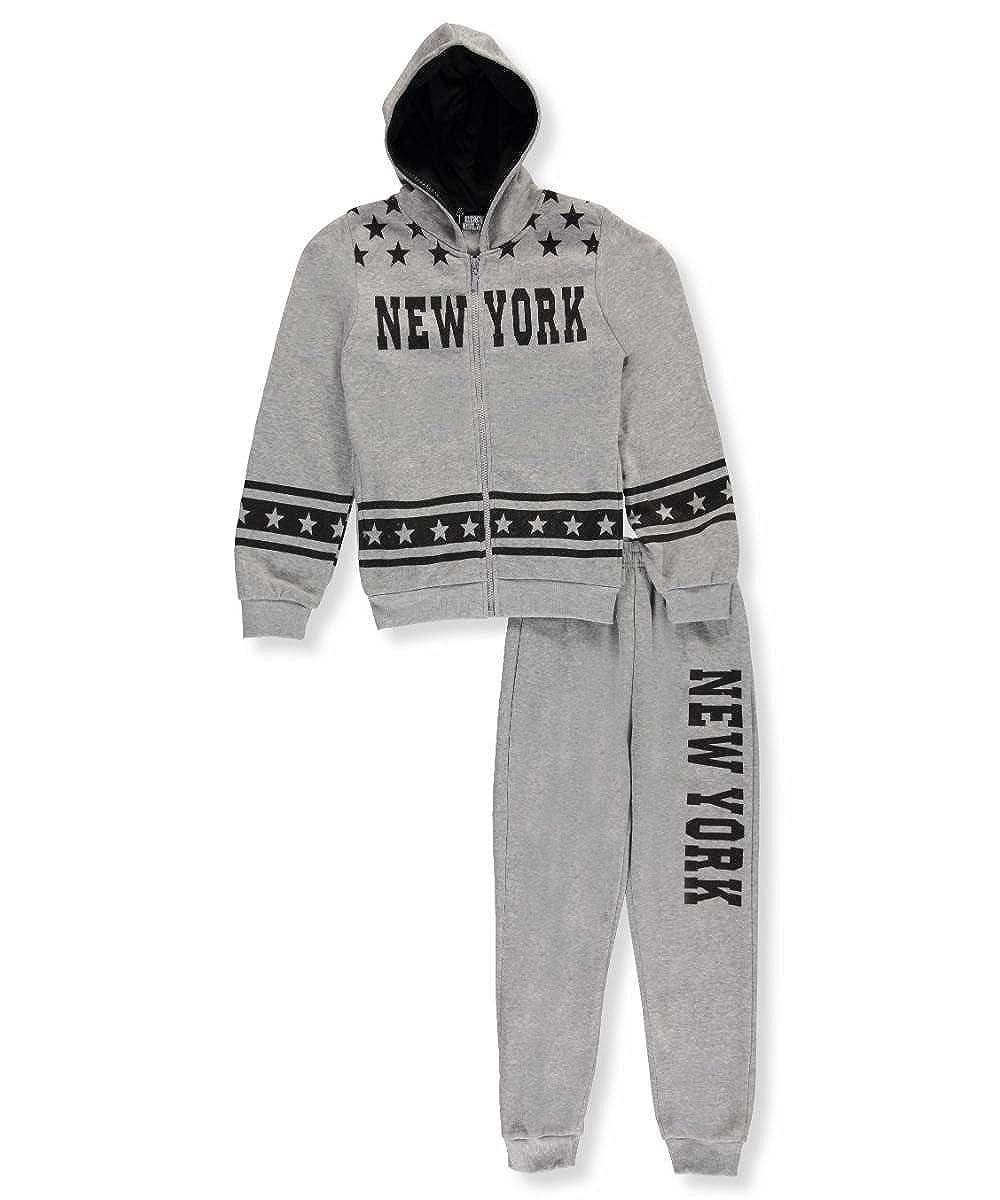 Coney Island Big Boys' 'New York Stars' 2-Piece Fleece Sweatsuit 14-16