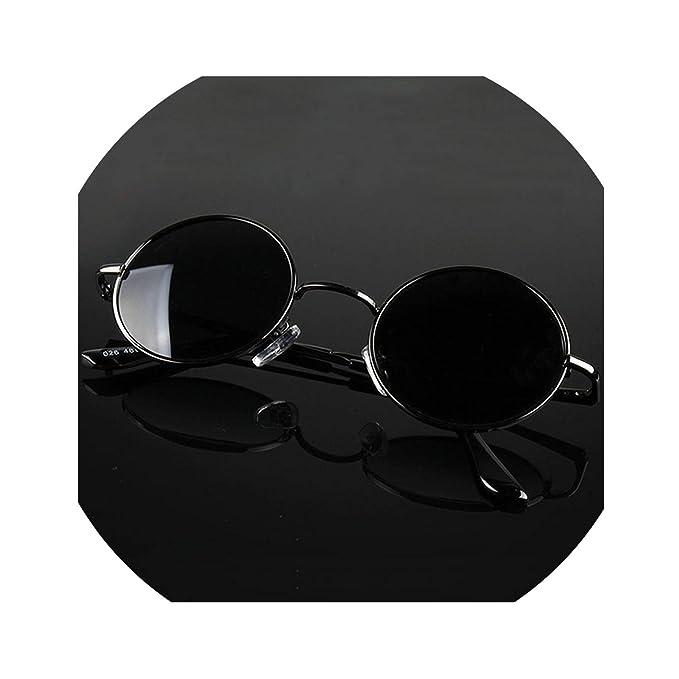 Amazon.com: Gafas de sol retro clásicas y redondas ...