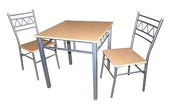 Home Gift Garden HGG Esstisch mit 2 Stühlen – Quadratischer Esstisch ...