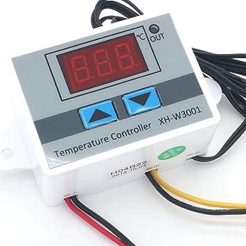 AimdonR 12//24 220V 10A R/égulateur de temp/érature num/érique LED avec sonde 12v