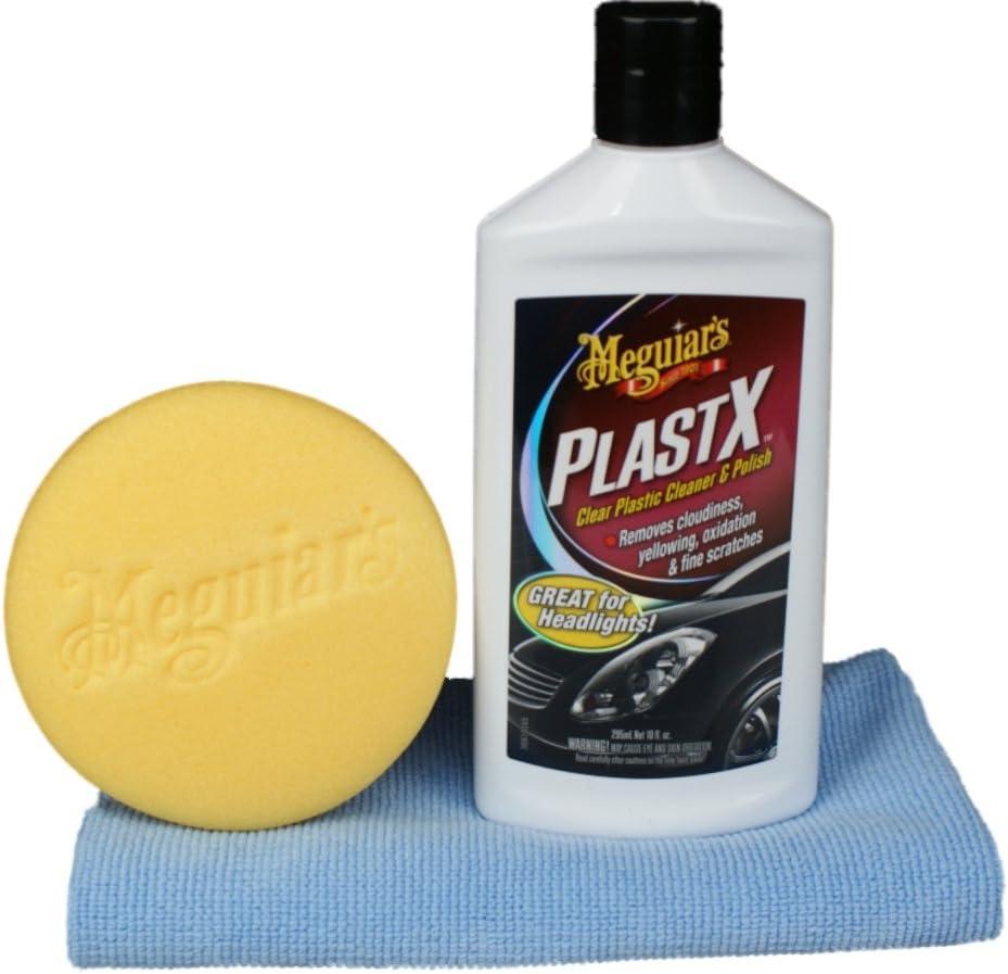 Meguiar S Plastx Plastikpolitur Set Mit Meguiars Applicator Dft Microfasertuch Auto