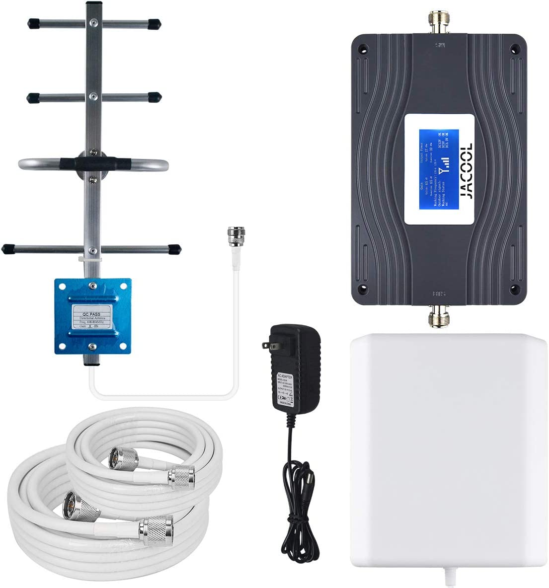 Verizon AT&T Cell Phone Signal Booster Dual 700MHz Band 13/12/ 17 4G LTE Cellular Signal Booster FDD High Gain 65dB Cell Phone Booster Amplifier Repeater for Remote Area Verizon ATT T-Mobile