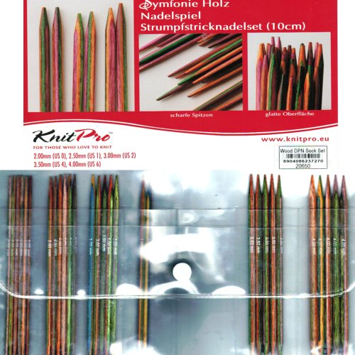 Double Pointed Needle Sets (Symfonie Wood 10cm - 4