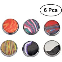 SUPVOX Set of 6 Trumpet Valve Finger Buttons Colorful Stone Repair Parts Valve Caps Accessories Musical Instruments Collections