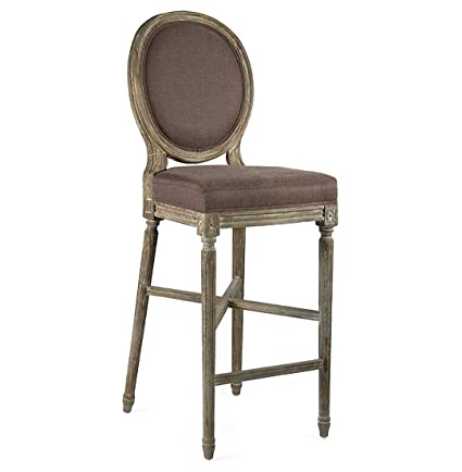 Fabulous Amazon Com Kathy Kuo Home Medallion Oak French Country Bar Bralicious Painted Fabric Chair Ideas Braliciousco