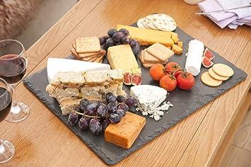 Piatti Cucina In Ardesia : H h piatto decoro ardesia in melamina nero cm casa e