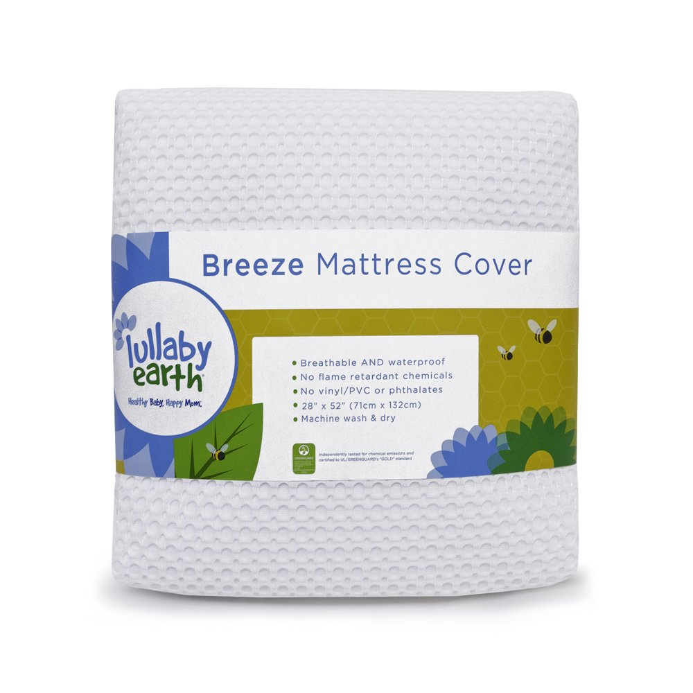 Breeze Breathable Washable Crib Mattress Pad Naturepedic