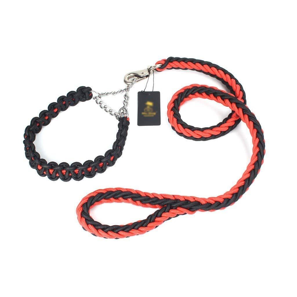 Hyena Rope Dog Collar Dog Chain Pet Leash Pet Supplies Medium Large Dog Hyena Traction Rope Supplies,M