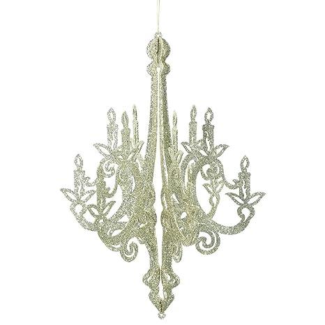 Amazon vickerman 465561 24 champagne glitter chandelier vickerman 465561 24quot champagne glitter chandelier christmas tree ornament aloadofball Choice Image