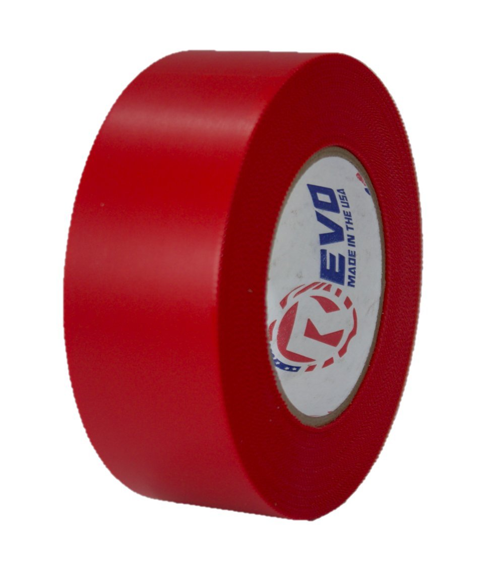 REVO Preservation Tape / Heat Shrink Wrap Tape (2'' x 60 yards) MADE IN USA (RED) Poly Tape - Electrical Tape - Asbestos Removal Tape (PINKED EDGE) SINGLE ROLL (ECONOMY: 7.5 MIL THICKNESS) by Impact