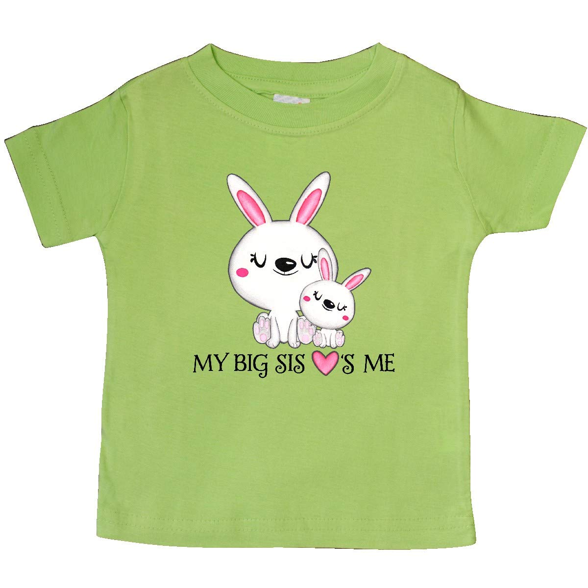 Bunny Family Baby T-Shirt inktastic My Big Sis Loves Me