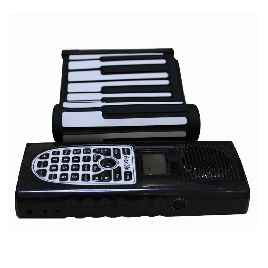 Duwenキーボード子供の手のロールキーボード61キーRollableピアノ折りたたみポータブル厚み付けキーボード ブラック ブラック ブラック ブラック B07FSNRJ1D, カー用品卸問屋 NFR:afaa98b5 --- elmont.su