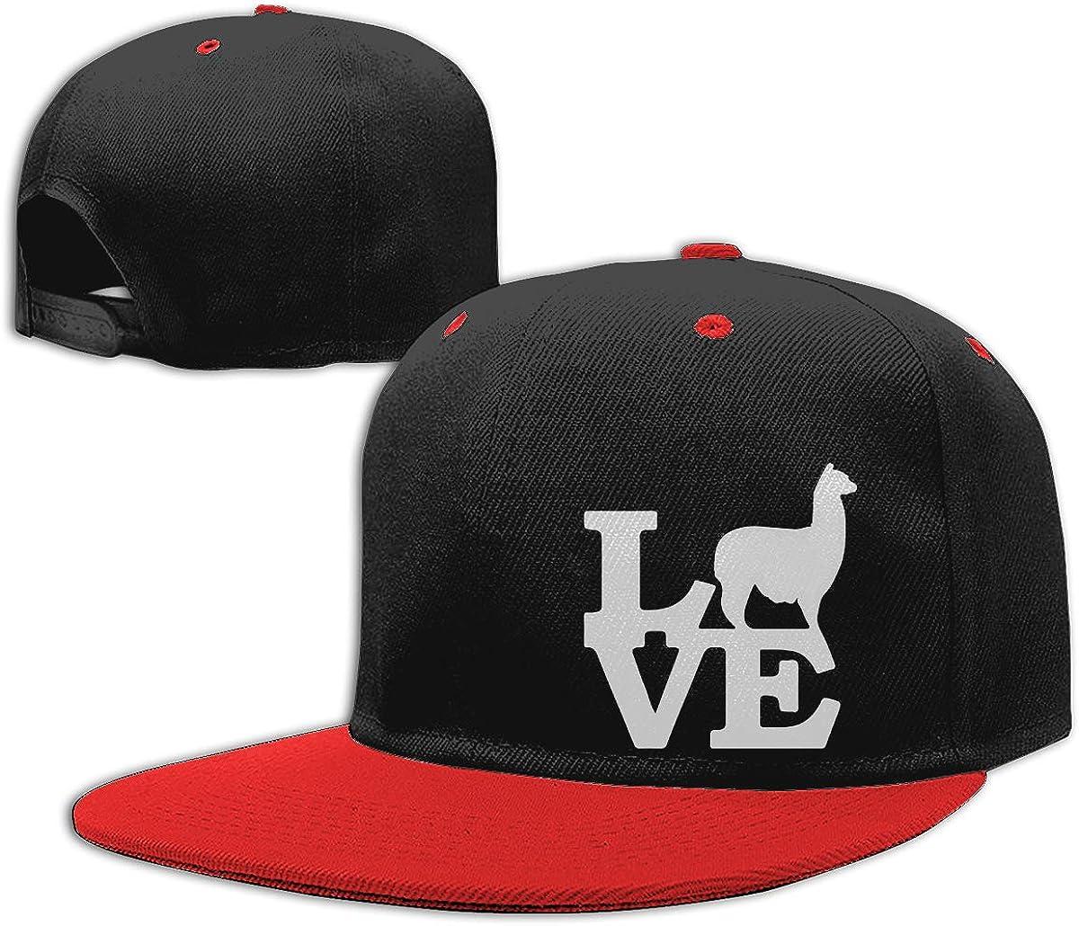 Alpaca Love1 Printed Flat Bill Baseball Caps NMG-01 Men and Women Trucker Cap