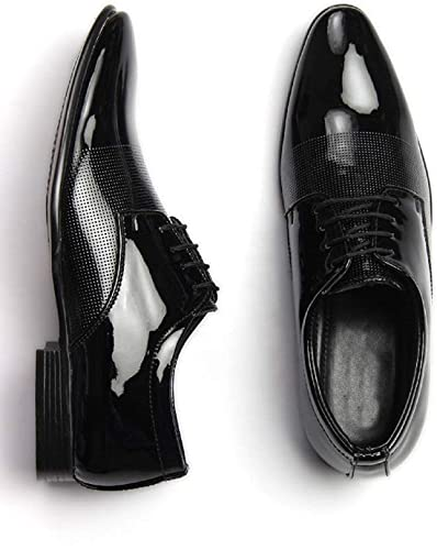 Free Feet Mens Black Patent Leather Stylish Formal Shoes For Men