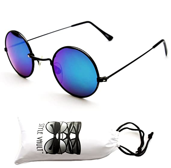 a1c90cd0ef915 V106-vp Style Vault Small 1 1 2 quot  Lens Round Metal Sunglasses (