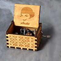 Zesta Wooden Hand Cranked Collectable Engraved Music Box (Harry Potter)