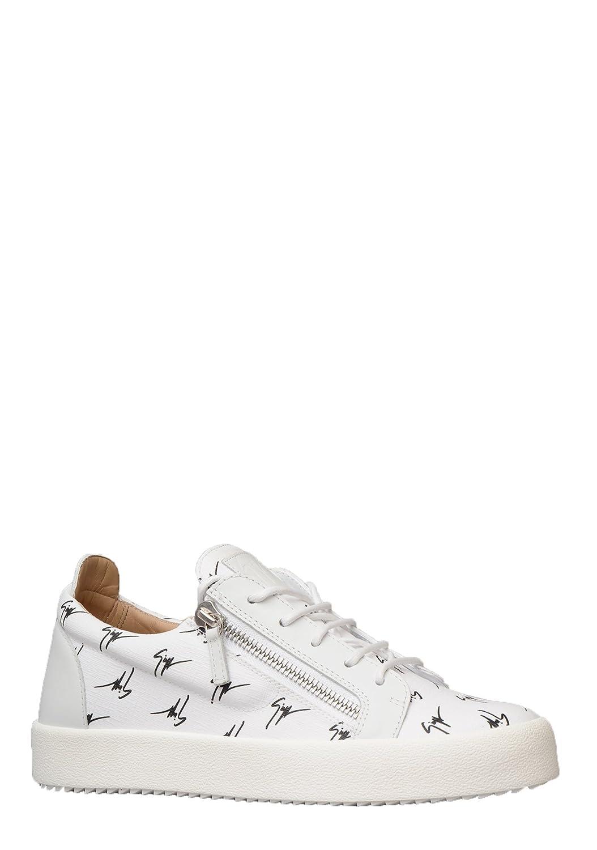 cbf91b6ab8368 Giuseppe Zanotti Mens RM80030 Signature Trainer in White/Black:  Amazon.co.uk: Shoes & Bags