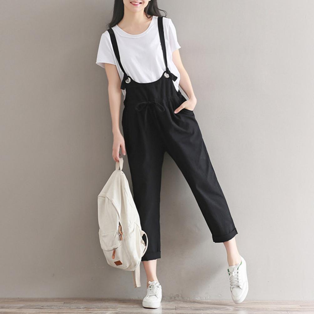 0045f411e QinMM mujer tirantes sueltos pantalones pantalón  Amazon.es  Deportes y  aire libre