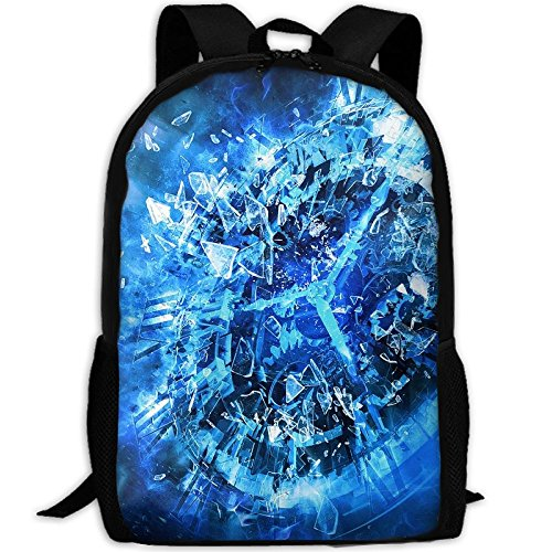 Glass Fragments Backpack Briefcase Laptop Travel Hiking School Bags Stylish Daypacks Shoulder - Glass Killeen