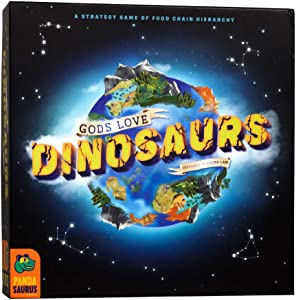 Pandasaurus Games Gods Love Dinosaurs - A Competitive Strategy Board Game of Food Chain Hierarchy - Family-Friendly Board Games 45-60 min, Ages 8+ (2-5 Players)