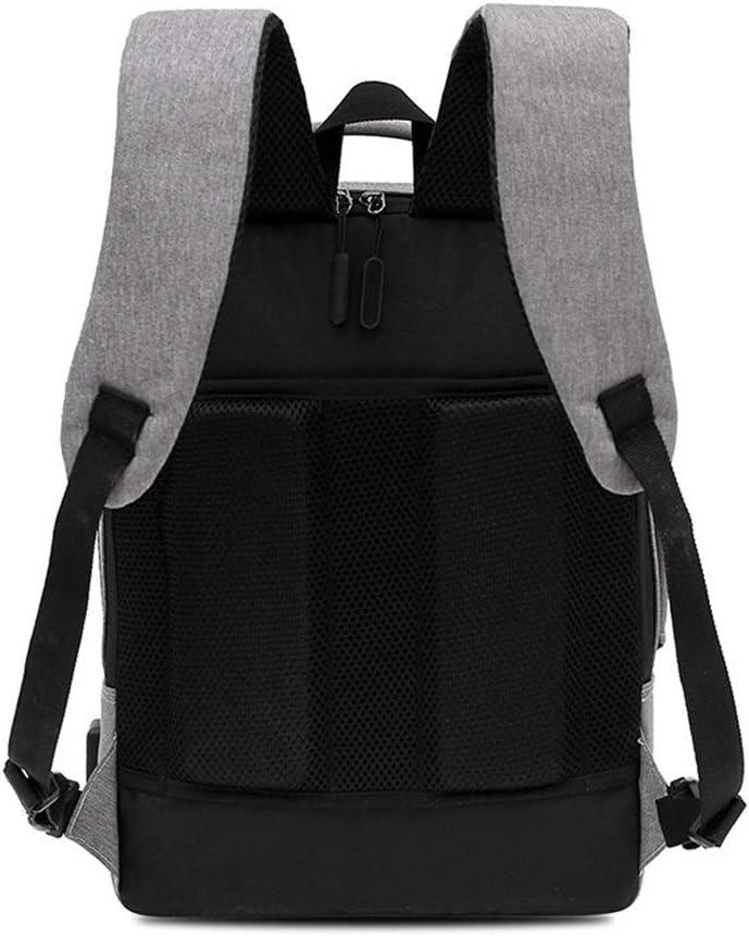 Color : Gray, Size : 423013cm LCHAO Travel Backpack USB Smart Business Casual Shoulder Bag Computer Bag Backpack Theft