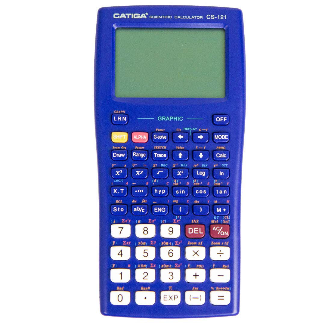 Scientific Graphic Calculator - CATIGA CS121 - Scientific and Engineering Calculator - Programmable System (Blue) by CATIGA