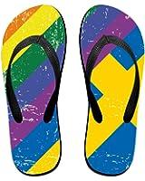 878680a85 QR FUNK Unisex Swedish And Gay Flag Summer Comfortable Flip Flops Beach  Slippers