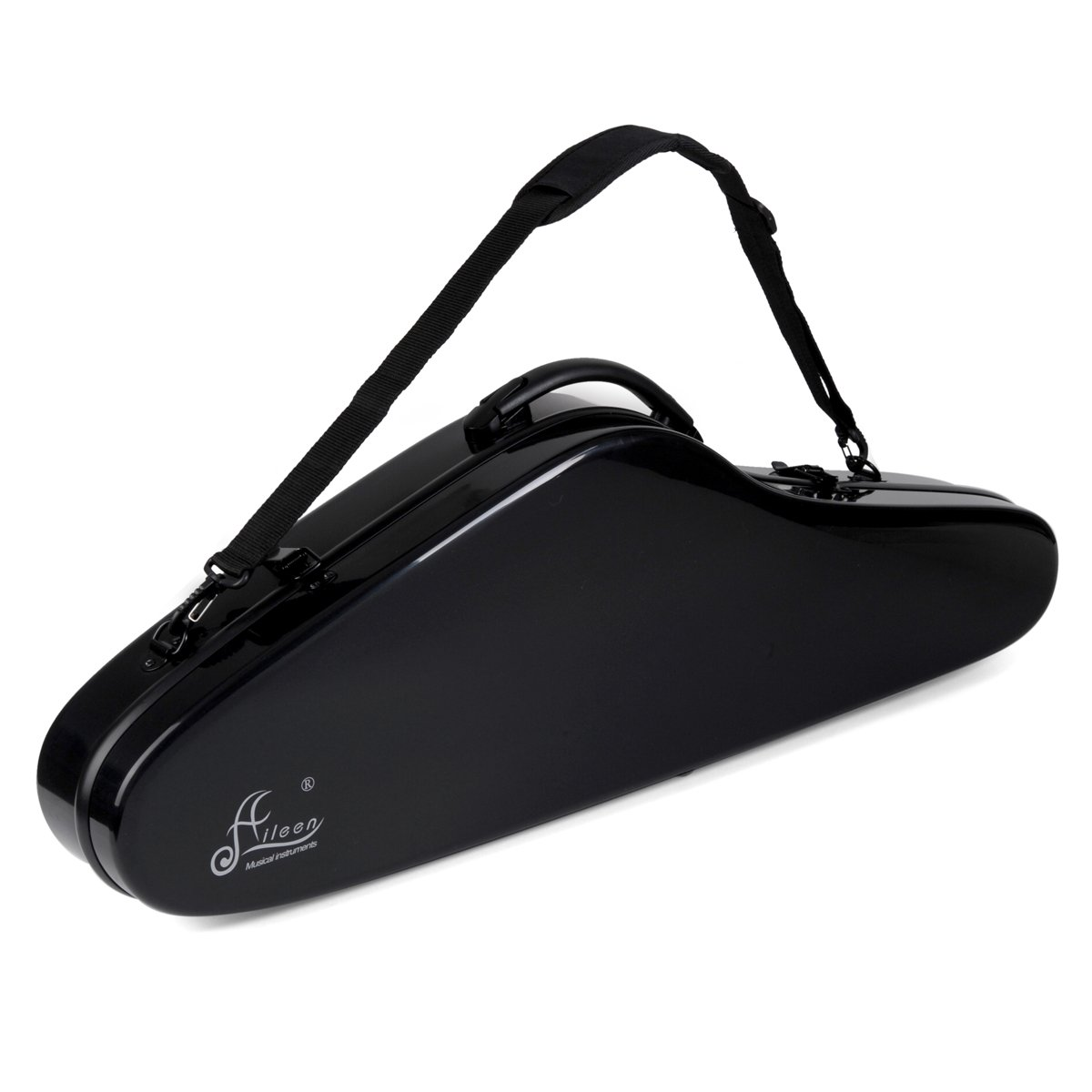 Aileen 4/4 Full Size Luxury Violin Hard Case with Hygrometer Suspension, 4 Colors, ''Air'' Series (Black)