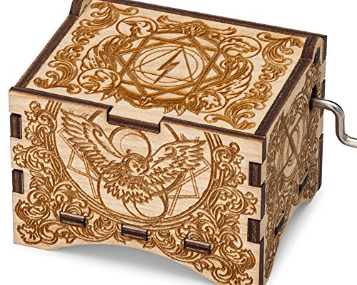 TheLaser'sEdge Hedwig's Theme, Personalizable Music Box, Laser Engraved Birch Wood (Artistic Standard) - Edge Music