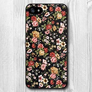For iphone 4s Case, New Design Retro Flower Pattern Protective Hard Phone Cover Skin Case For iphone 4s +Screen Protector