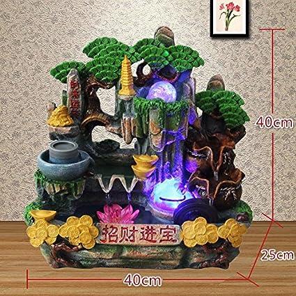 Rocalla fuente de agua sala oficina Decoracion Acuario regalos empresariales Fengshui ronda feliz deseo de hacer