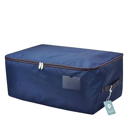 65 x 38 x 28 cm, tamaño Jumbo Bolsa de almacenamiento impermeable para la ropa de temporada, contenedor organizador suave a prueba de polvo en el ...