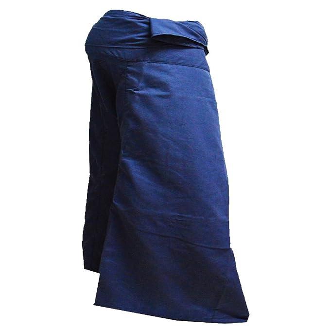 Mr.Bangkok Jumbo Size Man Women Pescador tailandés Wrap Pants Toray Wild Leg Baggy Yoga Pantalones Casual Cintura 60