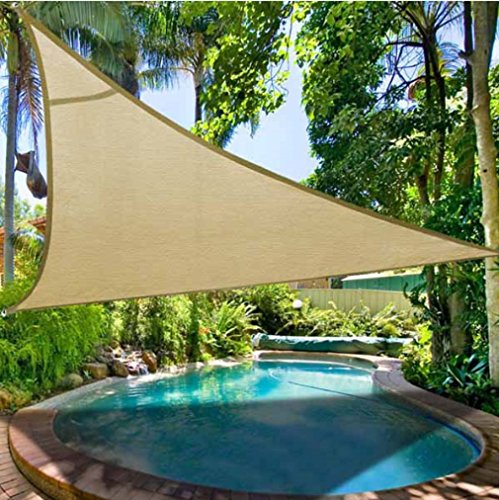Vinyl Privacy Slats (Fenceter 16' x 16' x 16' Triangular Woven Sun Shade Sail)