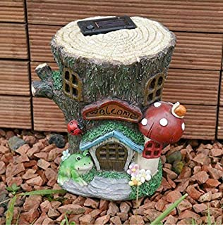 Garden Mile® Colourful Garden Gnome Light Up Toadstool Fairy House Solar  Light Up At Dusk