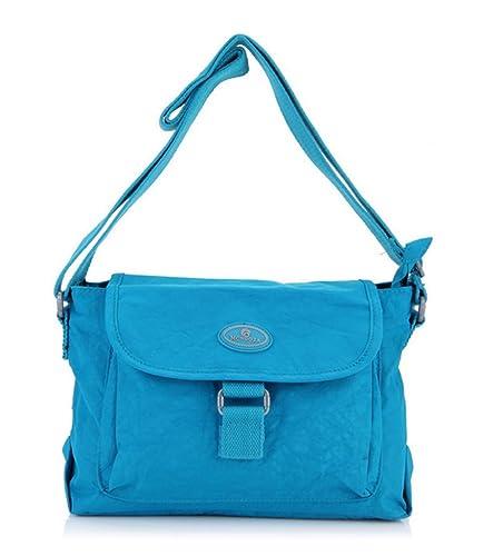5becf2f848 Bagtopia Women s Light Small Nylon Cross Body Shoulder Bag Waterproof  Pleated Satchel Purse for Girls (
