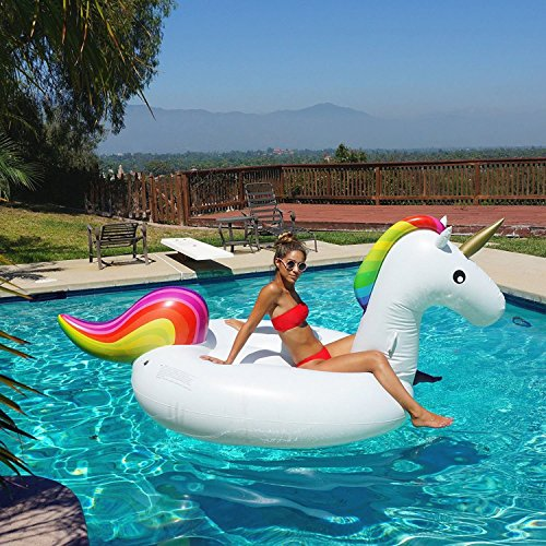 Dreampool 174 Giant Unicorn Inflatable Luxury Pool Float