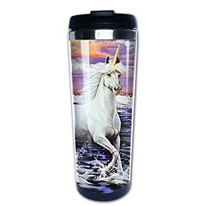 57881e5676b Amazon.com: Unicorn Coffee Mug Starbucks/Thermal/Travel Mug Tumbler: Kitchen  & Dining