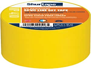 Shurtape VP 410 Colored Line Set and Marking Tape, For Floor/Lane Marking or Color-Coding, Meets OSHA Color-Coding, Yellow, 50mm x 33 Meters, 1 Roll (104874)