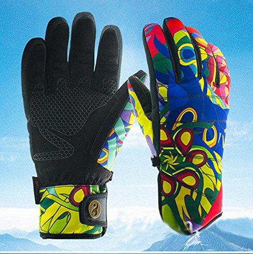 Amazon.com: HKJCC Snowboard Windproof Waterproof Non-Slip Ski Gloves Warm Mitten,L: Home & Kitchen
