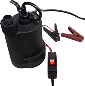 HydraPump 12V DC Submersible Battery Powered Portable Water Pump