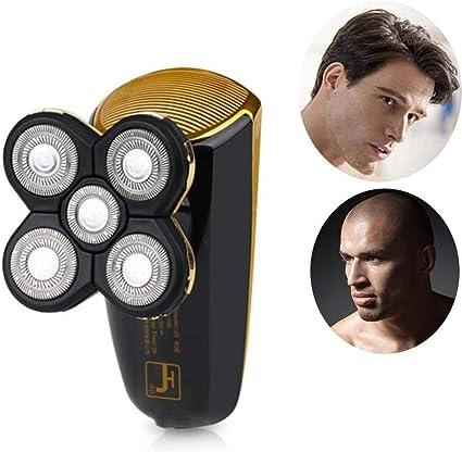 Afeitadora para hombres, 5 cabezales de afeitar giratorios ...