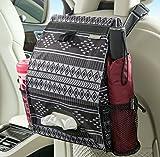 High Road Puff'nStuff Car Trash Bag and Seat Organizer with Tissue Holder (Baja)