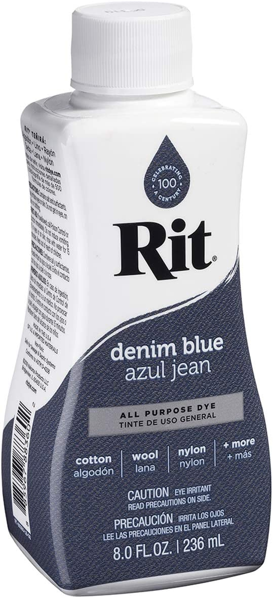 Rit All-Purpose Liquid Dye, Denim Blue