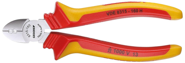 Gedore VDE 8315-160 H - Alicate de corte diagonal de electricista VDE 160 mm: Amazon.es: Bricolaje y herramientas