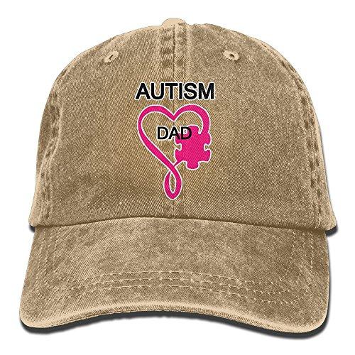 Welonzd Autism DAD Denim Hat Baseball Caps Plain Cap